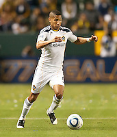 CARSON, CA – May 7, 2011: LA Galaxy defender Sean Franklin (5) during the match between LA Galaxy and New York Red Bull at the Home Depot Center, May 7, 2011 in Carson, California. Final score LA Galaxy 1, New York Red Bull 1.