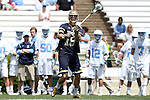 23 April 2016: Notre Dame's Sergio Perkovic. The University of North Carolina Tar Heels hosted the University of Notre Dame Fighting Irish at Kenan Stadium in Chapel Hill, North Carolina in a 2016 NCAA Division I Men's Lacrosse match. UNC won the game 17-15.
