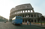 "April 27, 1990, Rome, Italy. Photographing for the book ""One day in the life of Italy"", this is an exploration of Rome. The Colosseum."