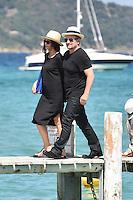 Bono, Noël Gallagher, Sacha Baron Cohen & their wifes at Club 55 in Saint-Tropez - France