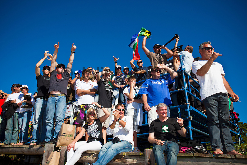 """JEFFREYS BAY, South Africa (Sunday, July 18, 2010) - Jordy Smith (ZAF), 22, has claimed his maiden ASP elite victory, taking out the Billabong Pro Jeffreys Bay over Adam Melling (AUS), 25, in front of a capacity hometown crowd..Event No. 4 of 10 on the 2010 ASP World Tour, the Billabong Pro Jeffreys Bay was nothing but blaring Vuvuzelas and roars from the bluff as these two titans went tit-for-tat in an incredible Final exchange. The young South African proved the victor, dominating from the outset and securing an emotional first win..""""This is the best day of my life,"""" Smith said. """"The crowd on the beach has been supporting me the last few days and hearing the cheers and the Vuvuzelas just gets me fired up to perform. It feels like they're pushing me along. I couldn't have done it without them."""".The most experienced surfer at Jeffreys Bay, Smith left very little to chance in the Final against Melling, opening his account with a blazing 8.90 before backing it up with some scintillating forehand surfing for a 9.03. The combination of scores (17.93 out of a possible 20) proved insurmountable for Melling.  Photo: joliphotos.com"""