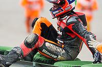 Colin Edwards exit racetrak after accident