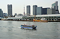 April 2, 2012, Tokyo, Japan - Tsukiji fish market, Tokyo's wholesale market renowned for its fresh fish, sits deep in the heart of Bay of Tokyo on Monday, April 2, 2012. It handles 2,300 tons of marine products worth 2.1 billion yen each day, making it Japan's largest wholesale market..The market will move from its present location of more than 60 years at the mouth of Sumida River to a new site in Toyosu, some 2.3 km southeast. .The proposed site of the new market will cover about 40 hectares, twice as big as the present site. The new market is slated for completion in 2014 with the estimated cost of construction at 160 billion yen, less than what it would cost to redevelop the current facilities at Tsukiji. (Photo by Natsuki Sakai/AFLO) AYF -mis-.