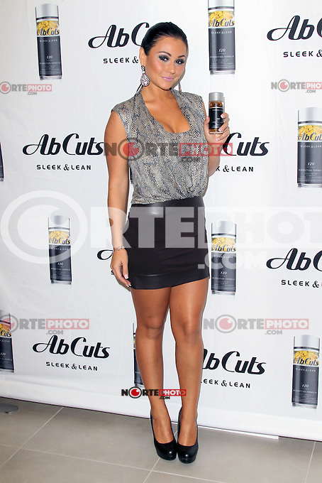 LOS ANGELES, CA- JULY 24: Jenni 'JWoww' Farley at an instore signing promoting Ab Cuts at The GNC in the Beverly Center in Los Angeles, California. July 24, 2012. &copy;&nbsp;mpi26/ MediaPunch Inc. /NortePhoto.com<br />