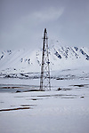 The mooring mast for the Norge, a semi rigid airship used by Roald Amundsen, Umberto Nobille and Lincoln Ellsworth in Ny Alesund, on their way to the North Pole in 1926.