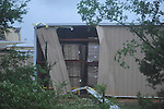 Damage to a new building at Winchester in the Industrial Park as a result of an overnight storm in Oxford, Miss. on Wednesday, April 27, 2011.