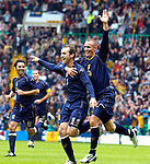 Pic Kenny Smith 02/09/2006.Scotland V Faroe Isles, European Championships 2008 qualifier Celtic park, Glasgow..McFadden celebrates his goal with Miller
