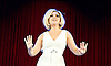 Dusty <br /> Written &amp; directed by Chris Cowey<br /> Choreography by Joey McKneely<br /> a new British musical about <br /> the rise to fame of 60s superstar Dusty Springfield<br /> press photocall <br /> 1st September 2015 <br /> <br /> Alison Arnopp as Dusty <br /> <br /> Francesca Jackson as Nancy <br /> <br /> Polka dot dresses (left to right)  The Lana Sisters   Megan Makin, Alison Arnopp, Amanda Digon<br /> <br /> <br /> Photograph by Elliott Franks <br /> Image licensed to Elliott Franks Photography Services