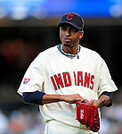 5 September 2009: Cleveland Indians' relief pitcher Rafael Perez returns to the dugout during a game against the Minnesota Twins at Progressive Field in Cleveland, Ohio. The Indians fell to the Twins 4-1 in the second game of their three-game weekend series. Mandatory Credit: Ed Wolfstein Photo