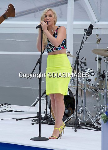NATASHA BEDINGFIELD<br /> entertains the guests the naming of the &quot;Royal Princess&quot; by Kate, Duchess of Cambridge in a ceremony at Ocean Terminal, Southampton_13/06/2013<br /> This is Kate's last official engagement before the birth of her baby. <br /> Mandatory Credit Photo: &copy;Francis Dias/DIASIMAGES<br /> <br /> **ALL FEES PAYABLE TO: &quot;NEWSPIX INTERNATIONAL&quot;**<br /> <br /> IMMEDIATE CONFIRMATION OF USAGE REQUIRED:<br /> Newspix International, 31 Chinnery Hill, Bishop's Stortford, ENGLAND CM23 3PS<br /> Tel:+441279 324672  ; Fax: +441279656877<br /> Mobile:  07775681153<br /> e-mail: info@newspixinternational.co.uk