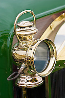 Lamp on vintage 1912 Renault car, Gloucestershire, United Kingdom