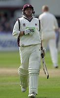 Photo Peter Spurrier.31/08/2002.Cheltenham & Gloucester Trophy Final - Lords.Somerset C.C vs YorkshireC.C..Somerset batting;  Keith Dutch