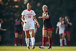 18 November 2016: Clemson's Jenna Weston (20) and Arkansas's Carly Hoke (6). The Clemson University Tigers played the University of Arkansas Razorbacks at Fetzer Field in Chapel Hill, North Carolina in a 2016 NCAA Division I Women's Soccer Tournament Second Round match. Clemson advanced by winning the Penalty Kick Shootout 4-2 after the game ended in a 0-0 tie after overtime.