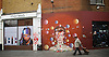 David Bowie mural in Brixton opposite tube station people still leaving flowers after his death on 10th January 2016. <br /> <br /> 24th April 2016 <br /> <br /> <br /> Photograph by Elliott Franks <br /> Image licensed to Elliott Franks Photography Services