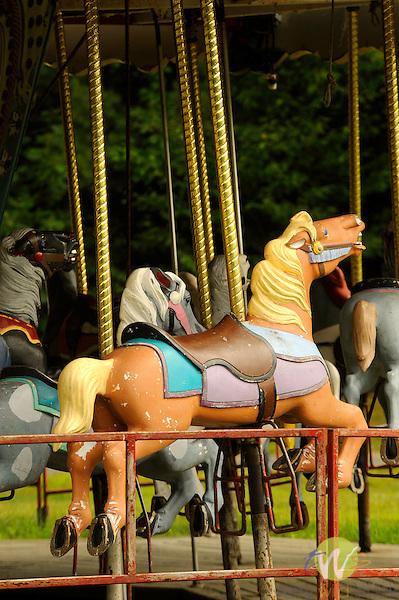 Quechee Gorge Village. VT. Carousel horses.