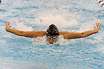 19 February 2016: Notre Dame's Tayde Revilak Fonseca competes in the 100 Butterfly preliminary heat 4. The 2016 Atlantic Coast Conference Swimming and Diving Championships were held at the Greensboro Aquatic Center in Greensboro, North Carolina from February 17-27, 2016.