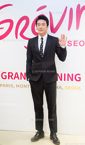 Kwon Sang-Woo, Jul 29, 2015 : South Korean actor Kwon Sang-Woo poses during the Grevin Museum opening in Seoul, South Korea. French wax museum, Grevin Museum°Øs first Asian branch displays 80 life-size wax models of world-renowned people and celebrities, including 30 South Korean celebrities, according to local media. (Photo by Lee Jae-Won/AFLO) (SOUTH KOREA)