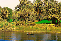 Life along the Nile River between Edfu and Esna, Egypt