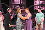 """Guiding Light's Kim Zimmer stars with Kayleen Seidl, Joel Briel, Molly Tower and Kevin Toniazzo-Naughtonl in """"It Shoulda Been You"""" - a new musical comedy - at the Gretna Theatre, Mt. Gretna, PA on July 30, 2016. (Photo by Sue Coflin/Max Photos)"""