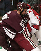 Thomas Larkin (Colgate - 27), Alex Fallstrom (Harvard - 16) - The Harvard University Crimson defeated the Colgate University Raiders 4-1 (EN) on Friday, February 15, 2013, at the Bright Hockey Center in Cambridge, Massachusetts.