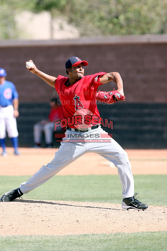 Rafael Rodriguez, Los Angeles Angels 2010 minor league spring training..Photo by:  Bill Mitchell/Four Seam Images.