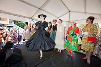 Kitty Van Horne winner of the best dressed lady is pictured at The 2012 Historic Houses Trust of NSW annual Fifties Fair at Rose Seidler House, Sydney. Picture James Horan