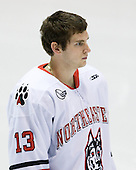 Randy Guzior (Northeastern - 13) - The visiting Niagara University Purple Eagles defeated the Northeastern University Huskies 4-1 on Friday, November 5, 2010, at Matthews Arena in Boston, Massachusetts.