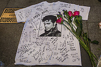 Tributes to Prince outside the Apollo Theater in New York