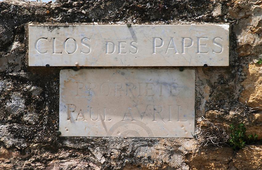 clos de papes paul avril chateauneuf du pape rhone france