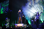 DISTURBED - David Draiman and John Moyer - performing live at the O2 Arena in London UK - 22 Jan 2017.  Photo credit: Zaine Lewis/IconicPix