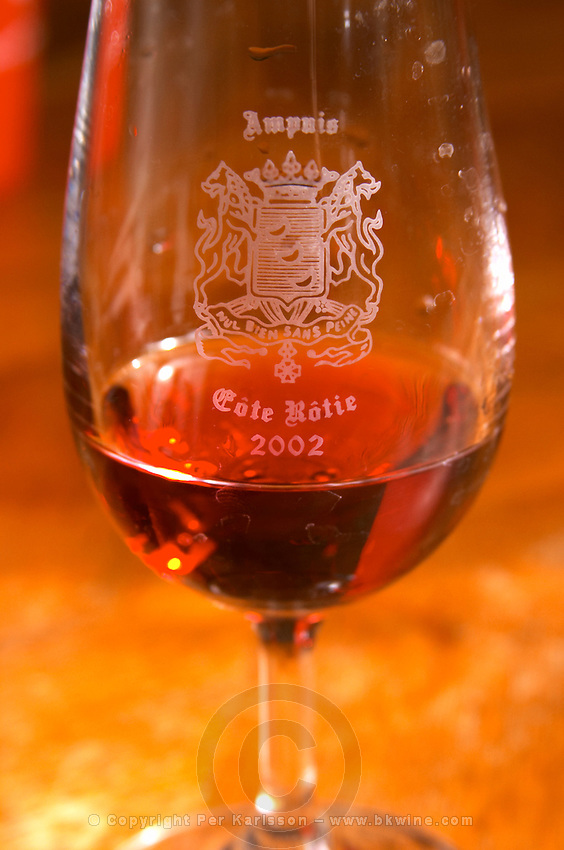 cote rotie glass domaine bonserine ampuis rhone france