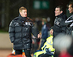 St Johnstone v Aberdeen...13.12.11   SPL .Steve Lomas and Tommy Wright.Picture by Graeme Hart..Copyright Perthshire Picture Agency.Tel: 01738 623350  Mobile: 07990 594431