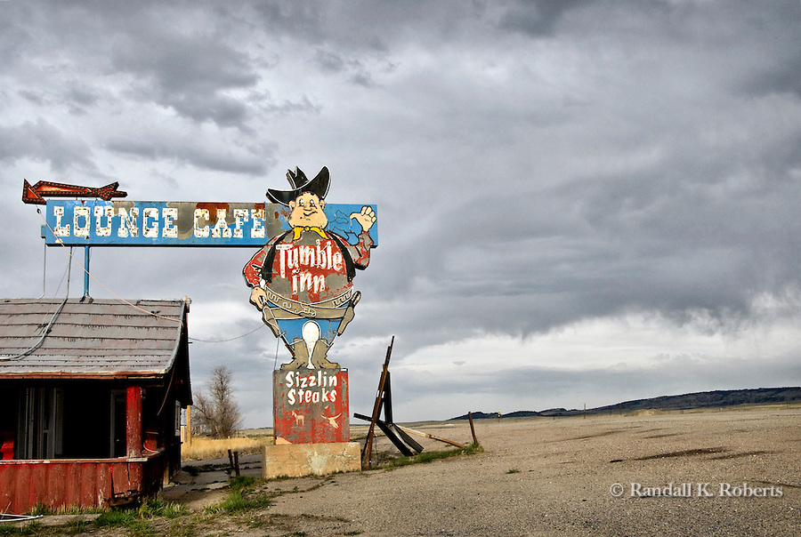 Abanoned restaurant, Wyoming
