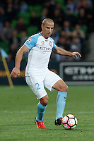 Melbourne, 28 October 2016 - EMMANUEL MUSCAT (2) of Melbourne City controls the ball in the round 4 match of the A-League between Melbourne City and Adelaide United at AAMI Park, Melbourne, Australia. Melbourne won 2-1 (Photo Sydney Low / sydlow.com)
