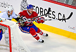 3 February 2009: Montreal Canadiens' defenseman Josh Gorges in action against the Pittsburgh Penguins in the first period at the Bell Centre in Montreal, Quebec, Canada. The Canadiens defeated the Penguins 4-2. ***** Editorial Sales Only ***** Mandatory Photo Credit: Ed Wolfstein Photo