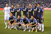 San Jose Earthquakes starting eleven. CD Chivas USA defeated the San Jose Earthquakes 3-2 at Home Depot Center stadium in Carson, California on Saturday April 24, 2010.  .