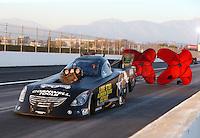 Feb 13, 2016; Pomona, CA, USA; NHRA funny car driver Terry Haddock during the Winternationals at Auto Club Raceway at Pomona. Mandatory Credit: Mark J. Rebilas-USA TODAY Sports