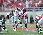 Ole Miss linebacker Allen Walker (9) at Reynolds Razorback Stadium in Fayetteville, Ark. on Saturday, October 23, 2010.