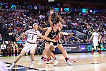 DALLAS, TX - MARCH 31:  Alanna Smith #11 of the Stanford Cardinal fights for the ball during the 2017 Women's Final Four at American Airlines Center on March 31, 2017 in Dallas, Texas. (Photo by Justin Tafoya/NCAA Photos via Getty Images)
