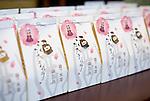 Tsurugajo castle/Yae no sakura goods in Aizu-wakamatsu City, Fukushima Prefecture, Japan on 01 May 2013.  Photographer: Rob Gilhooly