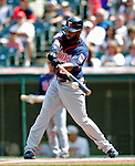 6 September 2009: Minnesota Twins' left fielder Denard Span connects against the Cleveland Indians at Progressive Field in Cleveland, Ohio. The Indians defeated the Twins 3-1 to take the rubber match of their three-game weekend series. Mandatory Credit: Ed Wolfstein Photo