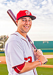 28 February 2016: Washington Nationals third baseman Matt Skole poses for his Spring Training Photo-Day portrait at Space Coast Stadium in Viera, Florida. Mandatory Credit: Ed Wolfstein Photo *** RAW (NEF) Image File Available ***
