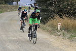 Riders on gravel sector 6 Pieve a Salti during the 2017 Strade Bianche running 175km from Siena to Siena, Tuscany, Italy 4th March 2017.<br /> Picture: Eoin Clarke | Newsfile<br /> <br /> <br /> All photos usage must carry mandatory copyright credit (&copy; Newsfile | Eoin Clarke)