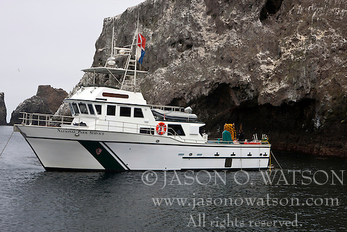 National Park Service research diving boat Sea Ranger II, Anacapa Island, Channel Islands National Park, California, United States of America
