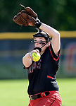Cheshire, CT- 19 May 2017-051917CM05-  Cheshire's Abby Abramson delivers a pitch during their 8-1 win over Mercy on Friday.  Christopher Massa Republican-American