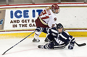 Andrea Green (BC - 21), Katie Brock (UNH - 5) - The Boston College Eagles and the visiting University of New Hampshire Wildcats played to a scoreless tie in BC's senior game on Saturday, February 19, 2011, at Conte Forum in Chestnut Hill, Massachusetts.
