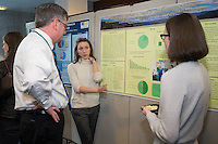 Public Health Poster Session. Class of 2015. William Jeffries, Ph.D., left, Nicole Meredyth.