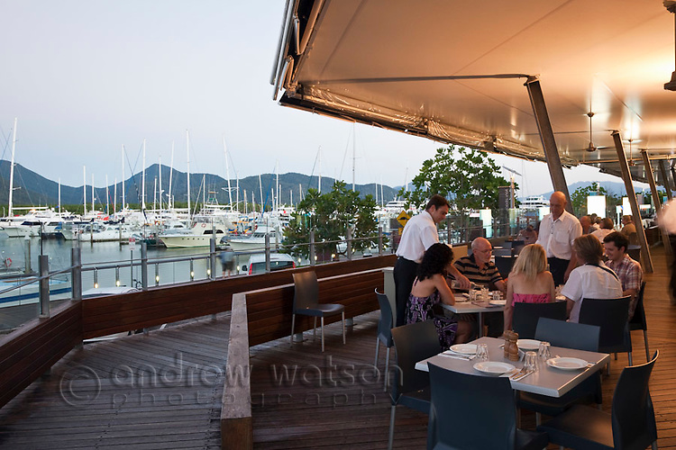 Waterfront dining at Donnini's Ciao Italia Restaurant.  The Pier, Cairns, Queensland, Australia