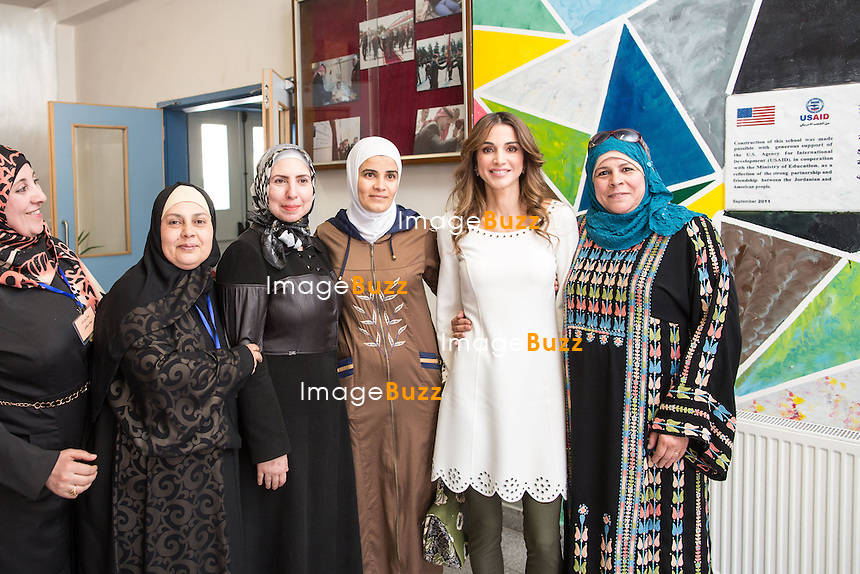 Queen Rania launches new school project.<br /> Queen Rania at the Dahiet Al Ameer Hassan Elementary Coeducational School in Amman, Jordan. The occasion was the launch of a new project called the Early Grade Reading and Math Project (RAMP).<br /> Jordan, Amman, 28 April, 2015.