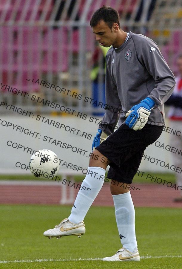 SPORT FUDBAL PARTIZAN CRVENA ZVEZDA SOCCER FOOTBALL RED STAR MERIDIJAN PRVA LIGA DERBI Djordje Pantic 23.9.2006. photo: Pedja Milosavljevic<br />